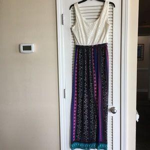 Lily Rose Dresses - Lily Rose  Women's L Dress  & Belt Lace Top SZ M